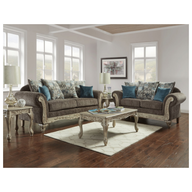Fitzgerald Furniture CL CARSON GRAY S/L