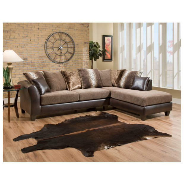 Fitzgerald Furniture CL KALI CHEETAH 2PC SECTIONAL